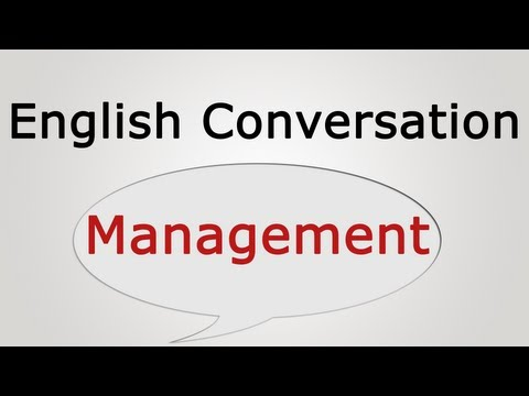English conversation: Management