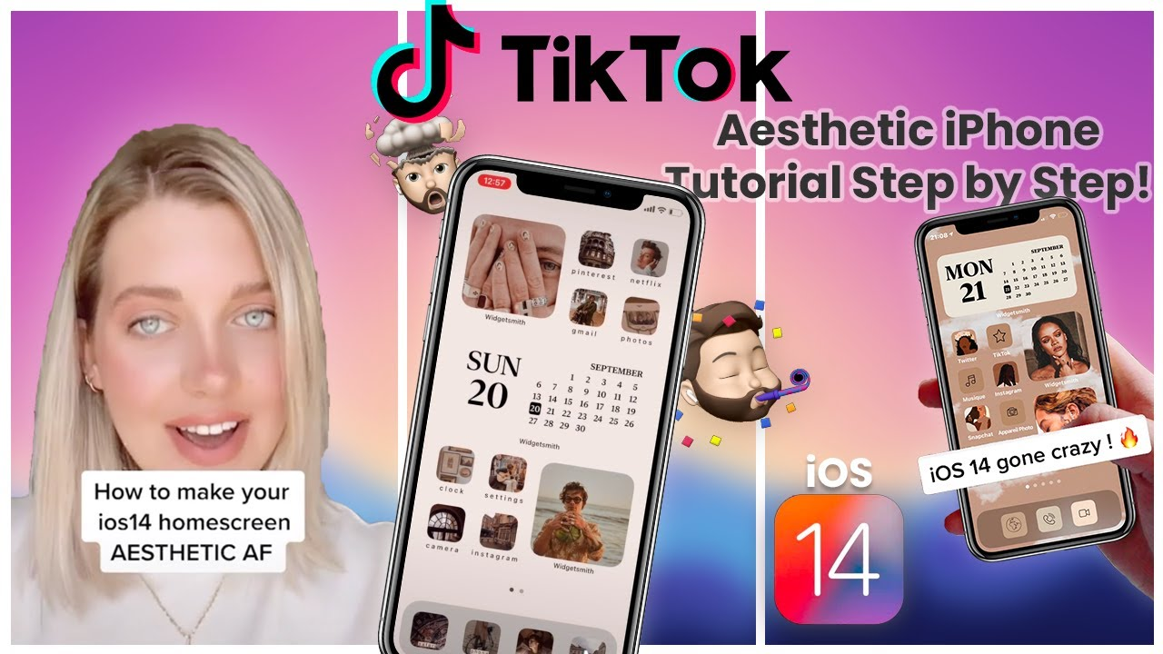 How To Customize Aesthetically Your iPhone with iOS 14 - STEP BY STEP Tutorials 😍 DIY Ideas