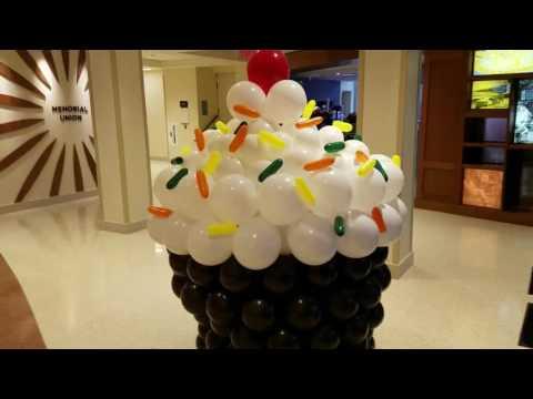 Wisconsin Memorial Union Cupcake Sculpture Dec 2016