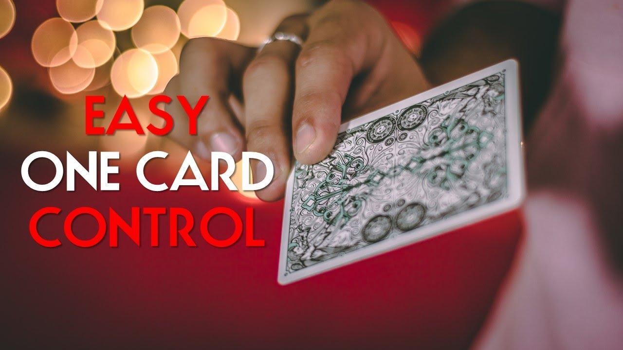 very easy card control card magic tutorial  youtube