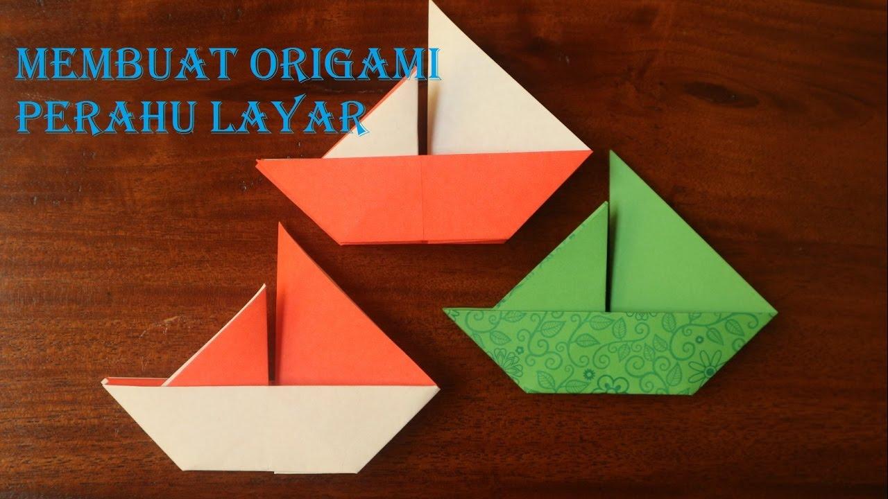 Cara membuat origami perahu layar dengan mudah #1
