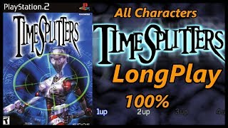Timesplitters 1 Ps2 - Longplay Full Gameplay Walkthrough Story/Challenges (Unlocking All Characters)