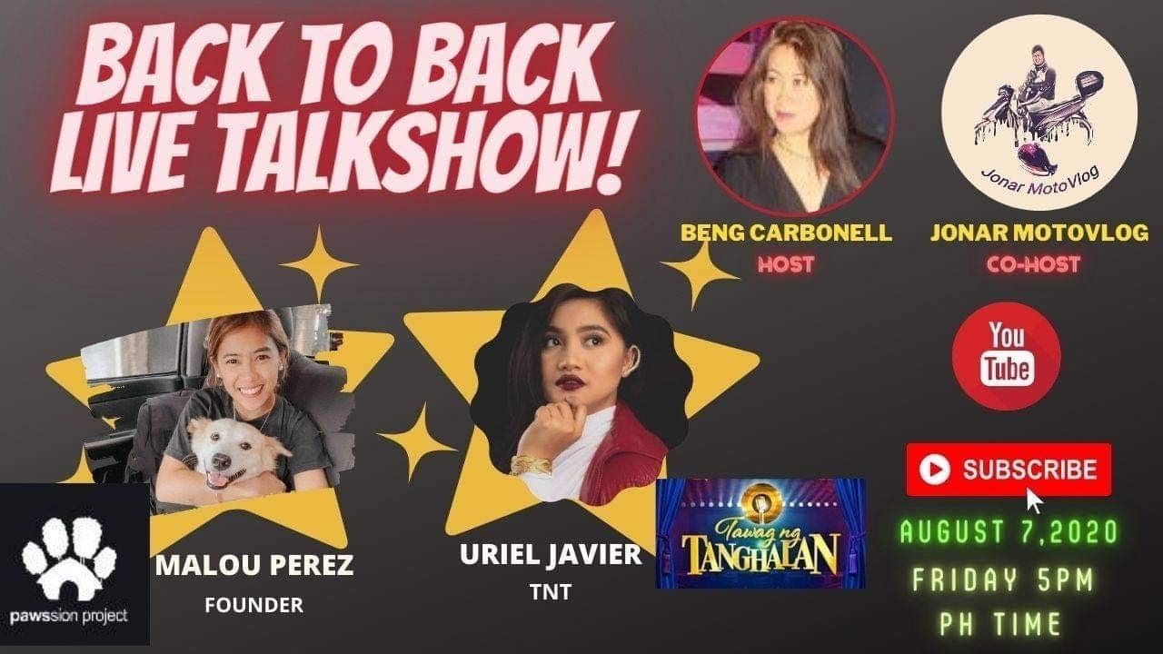 Tawag ng Tanghalan singers concert  & Pawssion Founder w/ channel singers concert #BengCarbonell