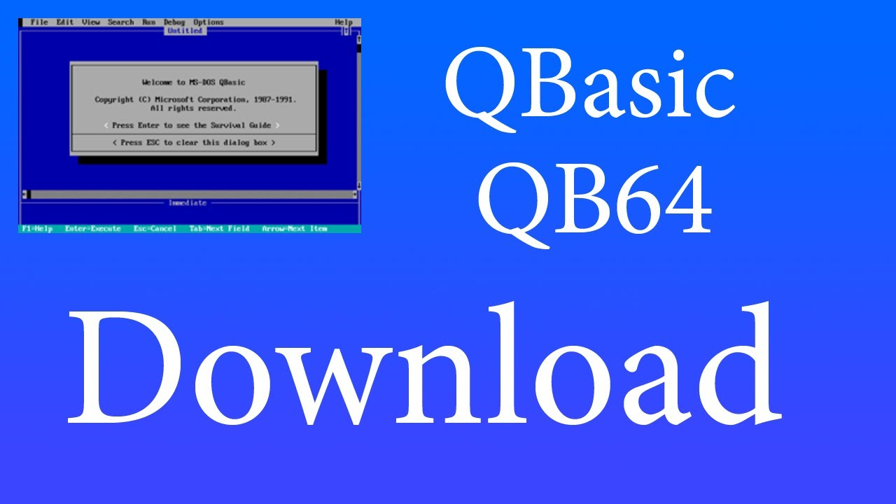 How to Download QBasic and QB64 - YouTube