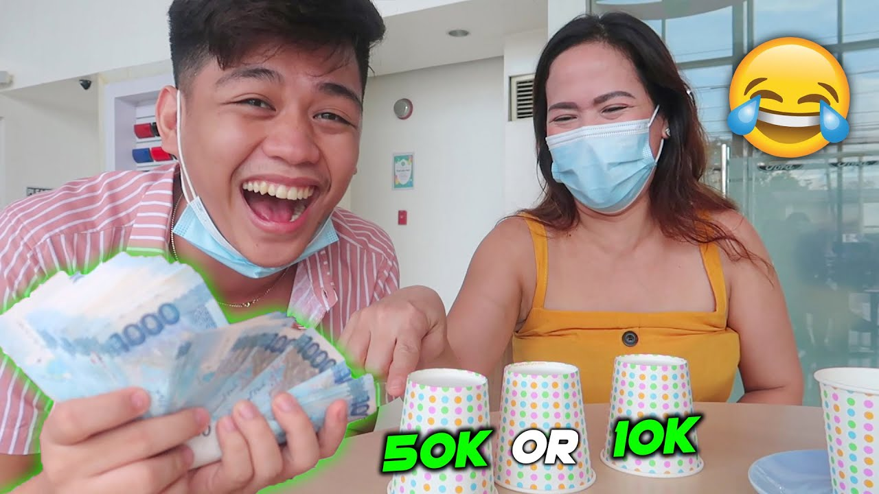 P50,000 Cup Challenge with my MOM!! (SURPRISE)