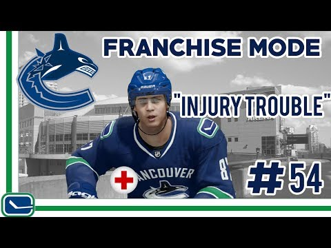 Injury Trouble - NHL 17 - GM Mode Commentary - Canucks - Ep.54