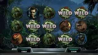 Jurassic Park Slot Dilophosaurus Feature Mega Big Win
