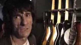 Ron Wood with his guitars