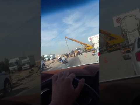 accident in erbil kirkuk Road .
