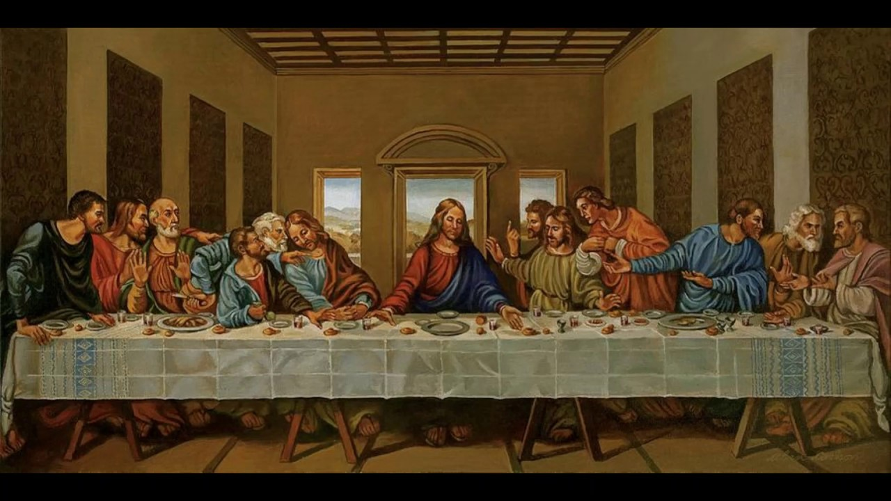 judas leaves last supper into the night - 1280×720
