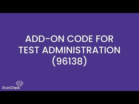 What's the Add-on Code for CPT 96138?