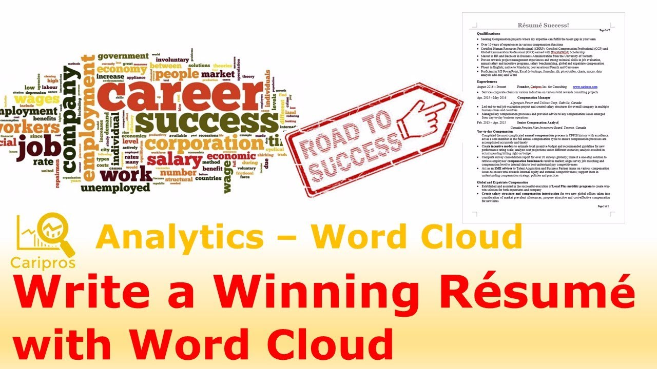 How To Write A Winning Resume That Recruiters Pick (with Word Cloud)?