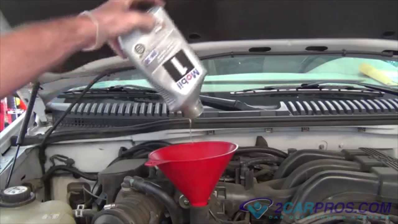 small resolution of oil change filter replacement ford explorer 4 0l v6 1994 2000 youtube