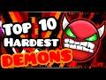 GEOMETRY DASH TOP TEN HARDEST DEMONS 1 9 mp3