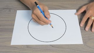 HOW TO DRAW A PERFECT CIRCLE WITHOUT COMPASS