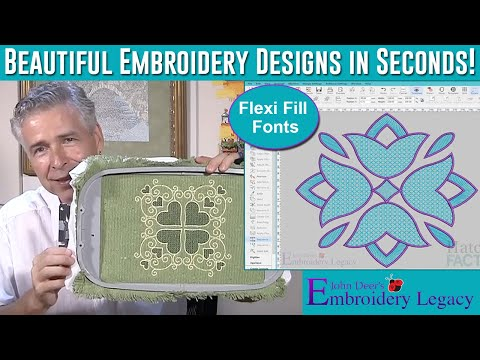 Create Machine Embroidery Home Decor In Minutes - FlexiFill Embroidery