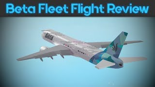 ROBLOX | Flight Review | Beta Fleet 777-200 Premium Economy
