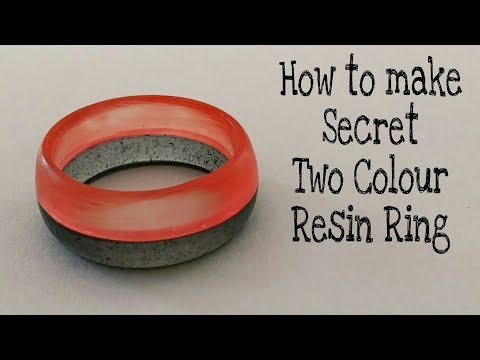 How to make Secret Two Colour Resin Ring from epoxy resin | Red and Black | Resin Ring