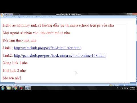 ninja school online hack tren may tinh - cách tải ninja school hack về cho pc yếu nha