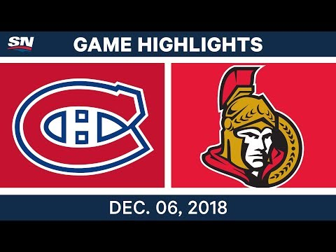 NHL Highlights | Canadiens vs. Senators - Dec 6, 2018