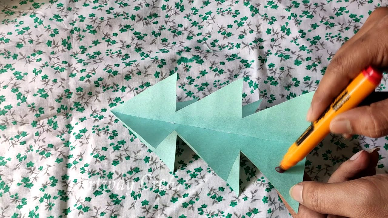 How to make Christmas Tree at Home | DIY Paper Christmas Tree making very easy | Christmas Decor