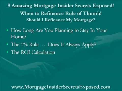 When to refinance rule of thumb