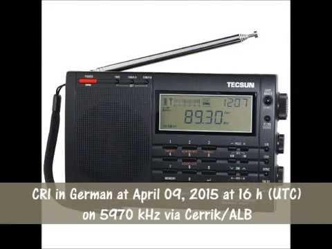 CRI German at April 09th, 2015 at 16 h (UTC) on 5970 kHz via Cerrik/ALB