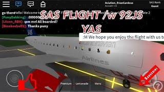 SAS voo ROBLOX/w 92JS YAS