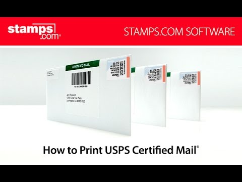 how to print usps certified mail youtube