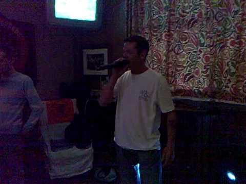 Stuart Paterson singing 500 miles karaoke