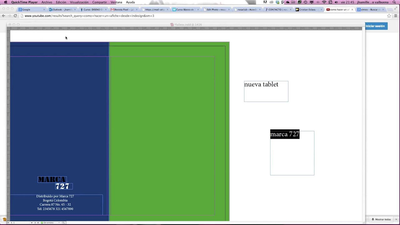 diseño folleto en indesign - YouTube