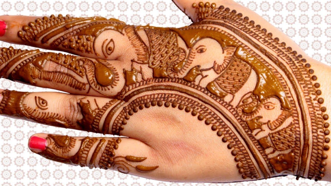 1ff64ebaa Elephant Caravan Mehndi Design | Back Hand Mehndi Design - YouTube