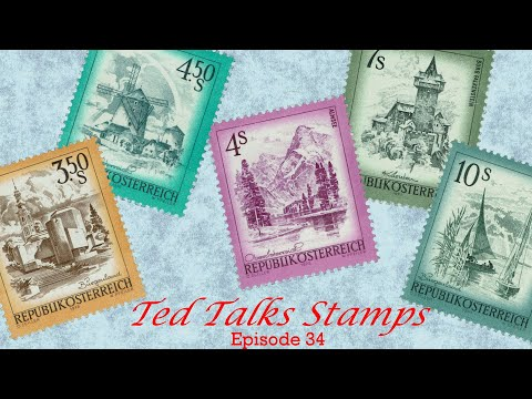 Ep. 34 - Slide Show: Views Of Austria. Postage Stamps Issued 1973-1983.