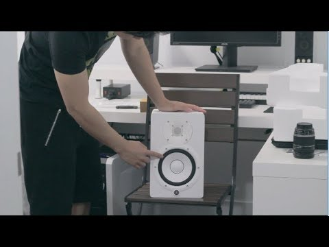 unboxing white yamaha hs7 studio monitors youtube. Black Bedroom Furniture Sets. Home Design Ideas