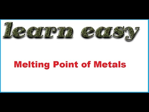 Melting Point of Metals (Hindi)(English)