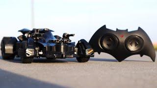BATMAN vs SUPERMAN Justice League Batmobile RC Car - Batman Car for Kids - Remote Control Toys