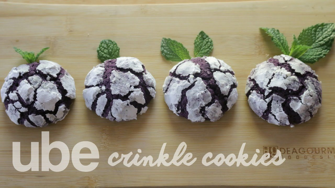 How To Make Ube Crinkle Cookies Youtube