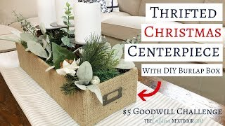 $5 Goodwill Challenge Christmas 2018 - Thrifted Christmas Centerpiece DIY