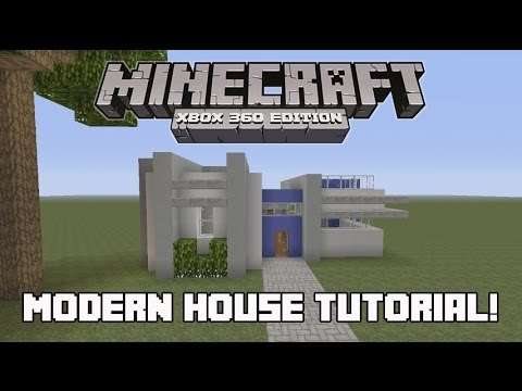 minecraft xbox 360 how to build a modern house