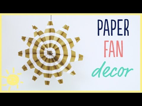 DIY | Paper Fans (Easy Party Decor!!)