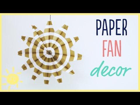DIY | Paper Fans (Easy Party Decor!!)