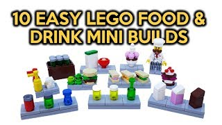 10 Easy LEGO Food & Drink Mini Builds