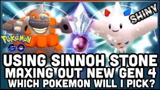 MAXING OUT SHINY TOGEKISS OR RHYPERIOR IN POKEMON GO   HOW TO GET THE SINNOH STONE