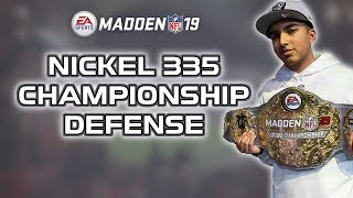 BEST DEFENSE IN THE GAME! - NICKEL 335 Championship defense - Madden 19 Tips