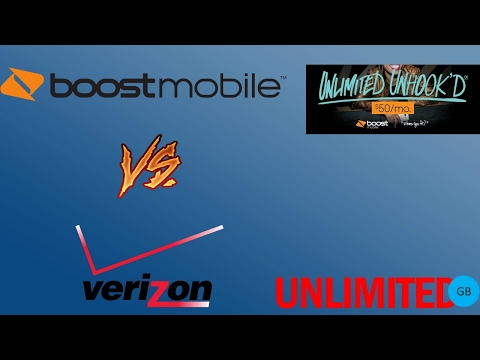 New Verizon Unlimited Data Vs Boost Mobile Unlimited Data (HD)