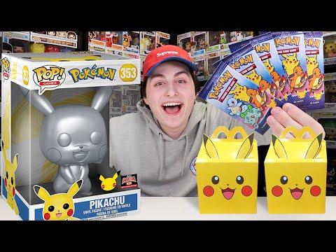 Pokemon 25th Anniversary Funko Pop Hunting + McDonalds Pack Opening!