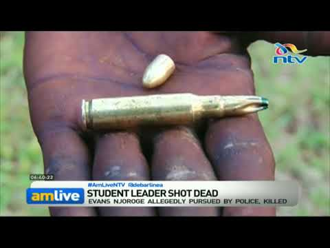 Meru University student leader shot dead by police during protests