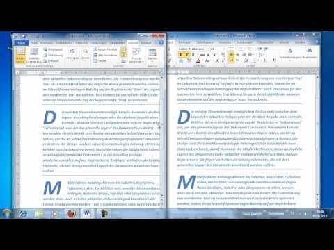 Word 2010 - Zwei Dokumente vergleichen mithilfe des synchronen Bildlaufs