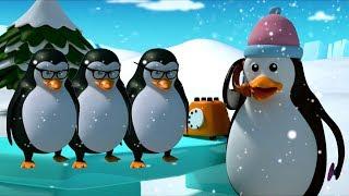 Пять маленьких пингвинов | Детские рифмы | Дети видео | Five Little Penguins Song | Children Rhyme