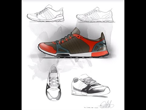 Footwear Design Sketch & Layout Demo